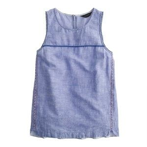 J. Crew Chambray Sleeveless 12 NWT